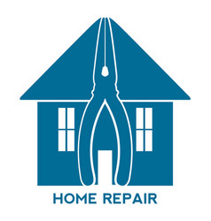 house silhouette with pliers and text vector image