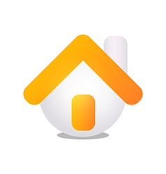 House with Golden Hat vector image