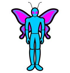 human wings vector image