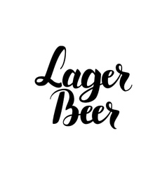 Lager Beer Lettering Card vector