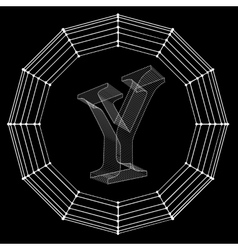 letter Fonts of Mesh vector image