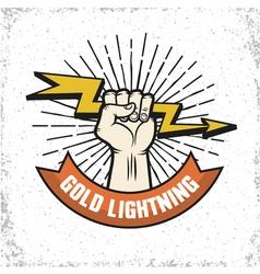 Lightning Logo Emblem vector