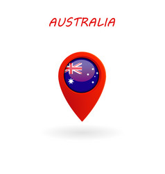 Location icon for australia flag eps file vector