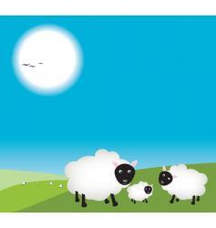 Mum and dad sheep vector