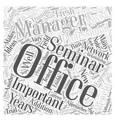 Office Management Seminars The Benefits of vector
