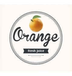 Orange juice natural product vector