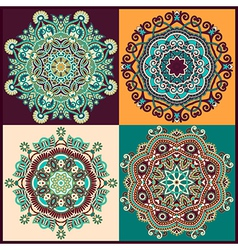 ornament ornamental round lace collection vector image