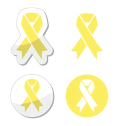 Pale yellow ribbon of spina bifida vector