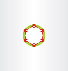 people circle red green business icon vector image