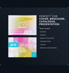 Presentation abstract set of modern vector