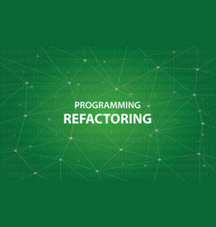 Programming refactoring concept white vector