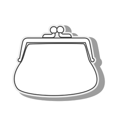 purse coins money wallet icon graphic vector image
