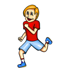 runner with smile vector image