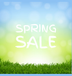 sale nature background with grass border vector image