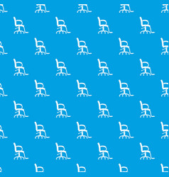 salon chair pattern seamless blue vector image