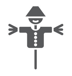 scarecrow glyph icon agriculture and farm dummy vector image