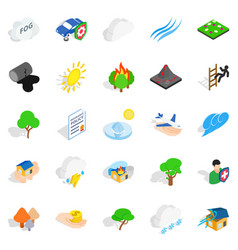 Scourge icons set isometric style vector