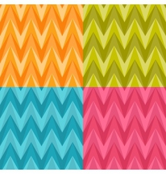 set four seamless color abstract retro vector image