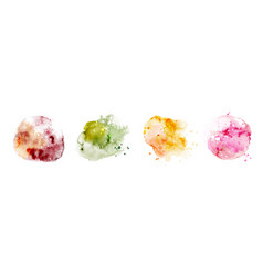 set hand-painted splash bright mixed color vector image