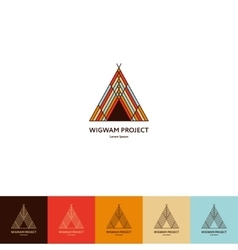 Set of wigwam logo vector