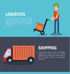 Shipping logistics design vector