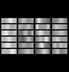 Silver set gradients vector