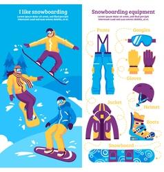 Snowboarding Vertical Banners vector