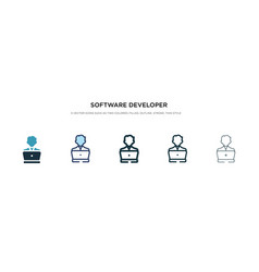 software developer icon in different style two vector image
