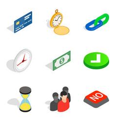 Swap money icons set isometric style vector