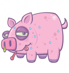 swine flu pig vector image