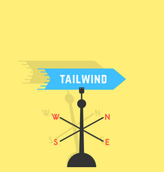 Tailwind with vane and shadow vector