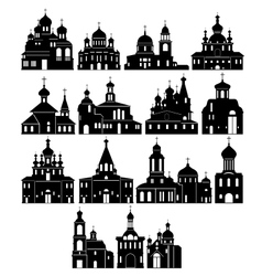 The contour of the church vector