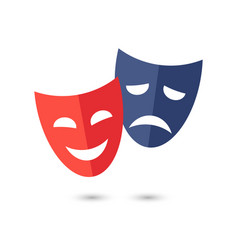 Theater masks icon on white background vector