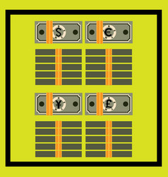 tied stacks and packs of the different banknotes vector image