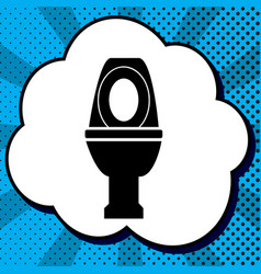 toilet sign black icon in vector image