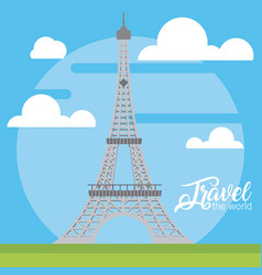 travel the world card vector image