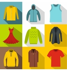 Underwear icons set flat style vector image