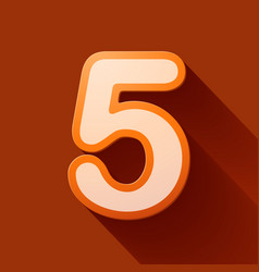 volume icons number five vector image