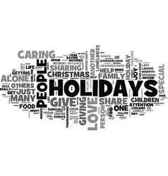what to do when you are alone for holidays vector image