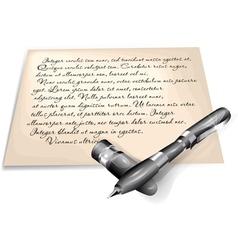 Written letter vector