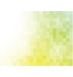 yellow green mosaic background vector image