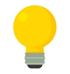 Yellow light bulbicon cartoon style vector
