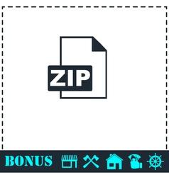 ZIP file icon flat vector image