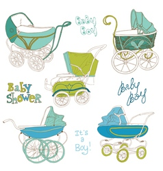 Baby Carriage Set vector image