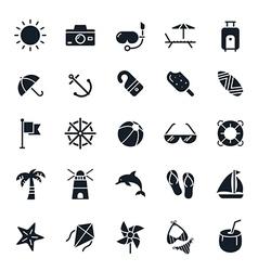 Beach Icons vector image