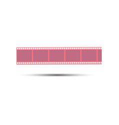 film strip movie icon reel cinema design frame vector image