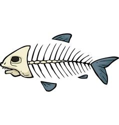 fish skeleton doodle vector image vector image
