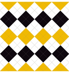 Lines Dots Yellow Black White Diamond vector image