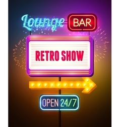 Neon Showing Sign Poster vector image vector image