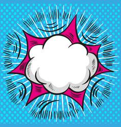 pop art comic speech cloud background vector image